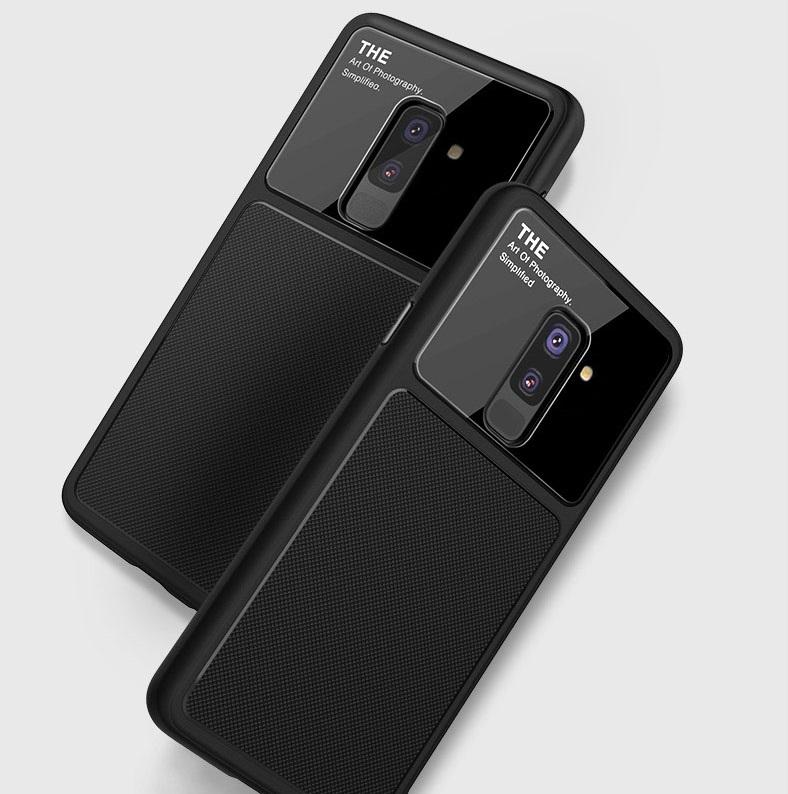 قاب محافظ سامسونگ Bakeey Silicone Glass Lens Case | Galaxy A6 Plus 2018 |