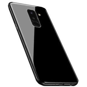 قاب محافظ پشت گلس سامسونگ Makavo Glass Cover | Galaxy A6 Plus 2018