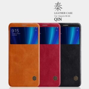 کیف چرمی نیلکین شیائومی Nillkin Qin Wallet Cover Mi 6X | Mi A2