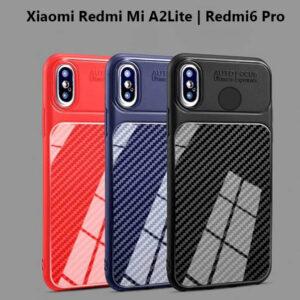 قاب محافظ شیائومی Auto Focus Fiber Carbon Case Xiaomi Redmi 6 Pro | Mi A2 Lite