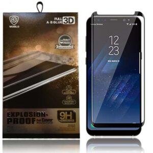 محافظ شیشه ای تمام چسب سامسونگ Mobilo Full Glue Glass | Galaxy S8