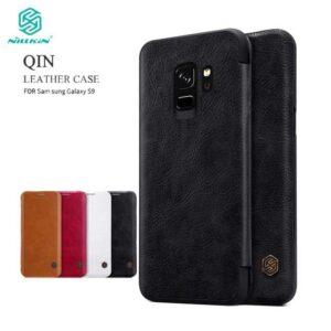 کیف چرمی نیلکین سامسونگ Nillkin Qin Series Wallet Cover | Galaxy S9