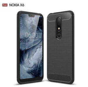 قاب محافظ فیبر کربن نوکیا Rugged Armor Carbon Fiber Case Nokia X6 | 6.1 Pus