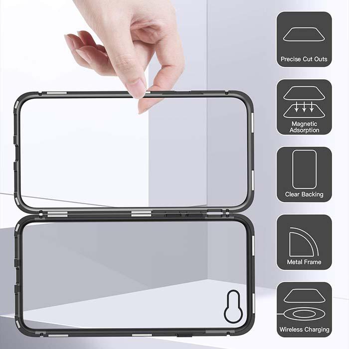 قاب محافظ مگنتی اپل Magnetic Adsorption Metal Bumper Case | iphone 8