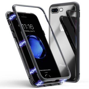 قاب دو تکه مغناطیسی آیفون Magnetic Adsorption Metal Bumper Case | iphone 8 Plus