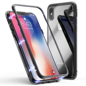 قاب محافظ مگنتی آیفون Magnetic Adsorption Metal Bumper Case | iphone X