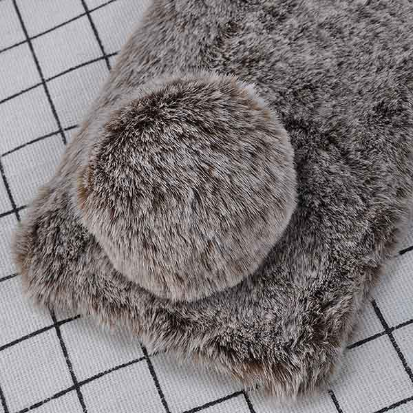 قاب عروسکی گوشدار آیفون Kissacase Rabbit Fur Ball Winter Case | iphone X