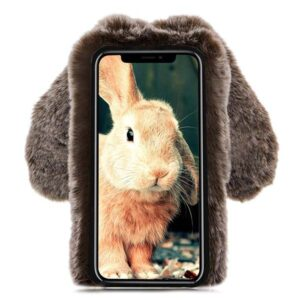 قاب محافظ گوش دار اپل Kissacase Cute Rabbit Fur Ball Case | iphone XR