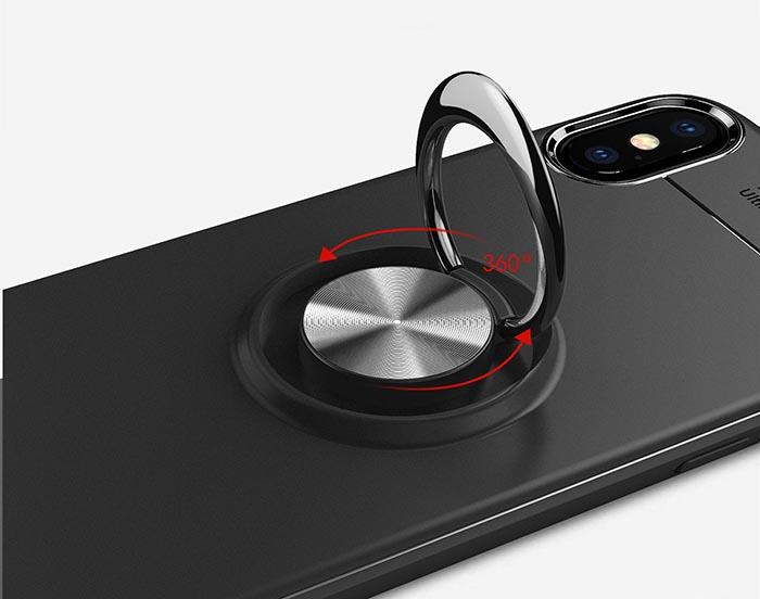 قاب طرح چرم انگشتی اپل Becation Metal Magnetic Case | iphone XS Max