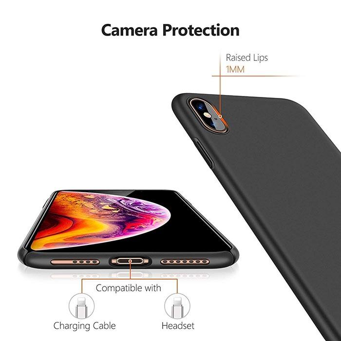 قاب محافظ محکم اپل UNIMOR Shield Ultra-Thin Frosted Hard Cover | iphone XS Max
