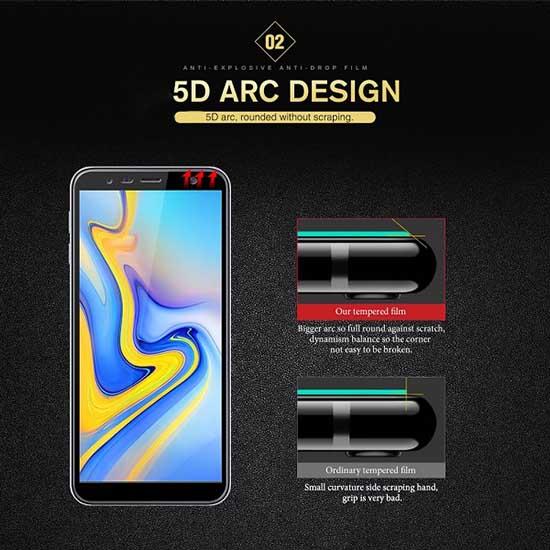 محافظ صفحه تمام چسب سامسونگ Full Glue 5D Glass Galaxy j6 Plus | j610F