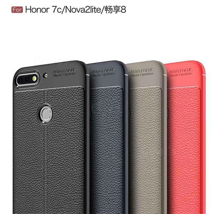 قاب محافظ طرح چرم آنر Auto Focus Soft TPU Letter Case Honor 7C   Enjoy 8