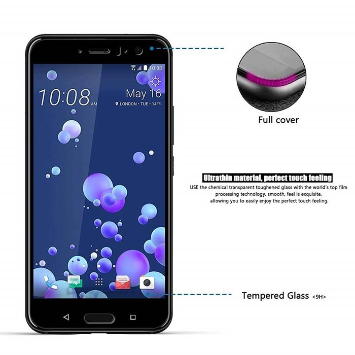 گلس محافظ تمام چسب اچ تی سی MB Full Coverage 5D Glass   HTC U11