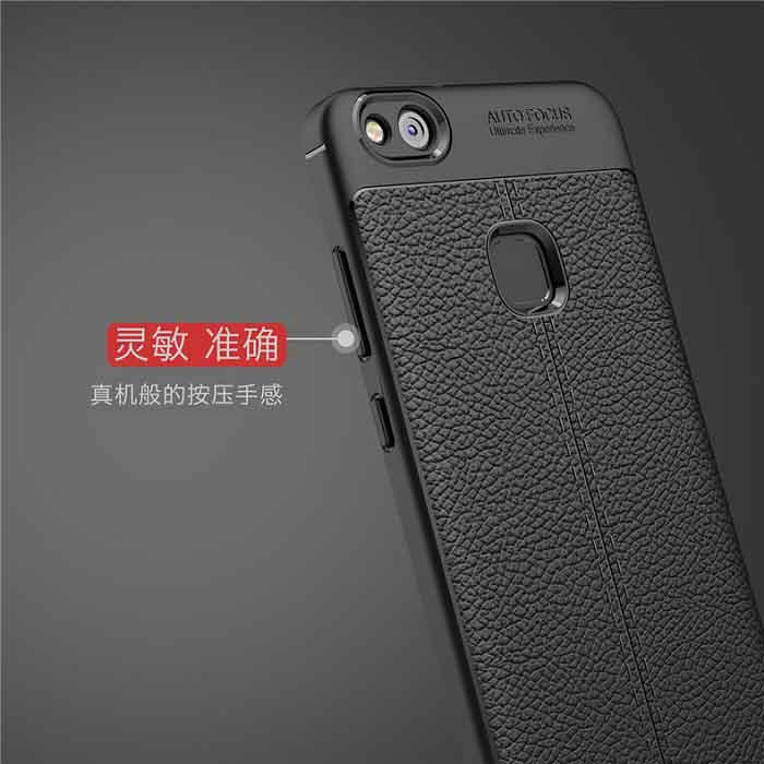 قاب طرح چرم اتو فوکوس هواوی Auto Focus Litchi Case | Huawei P10 Lite