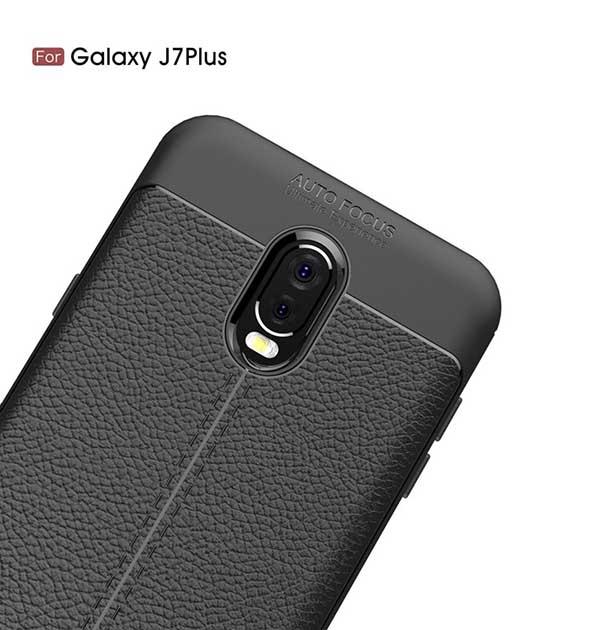 قاب محافظ اتو فوکوس سامسونگ Auto Focus Litchi Case Galaxy C8 | j7 Plus