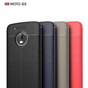قاب طرح چرم موتورولا Auto Focus Soft TPU Fitted Case | Motorola Moto G5