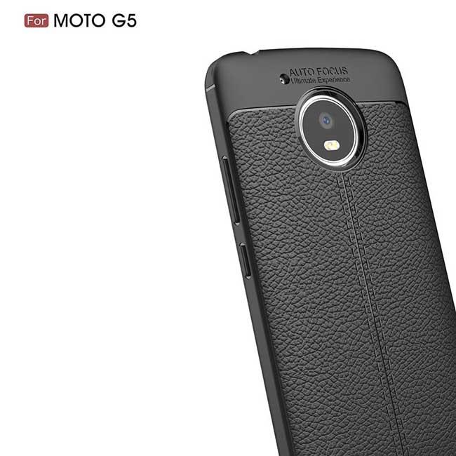 قاب طرح چرم موتورولا Auto Focus Soft TPU Fitted Case   Motorola Moto G5