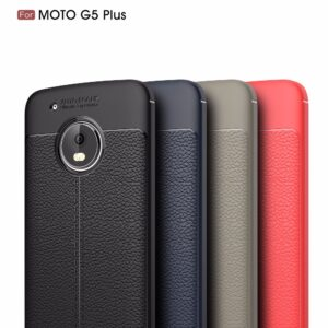 قاب محافظ طرح چرم موتورولا Auto Focus Soft TPU Letter Case | Moto G5 Plus