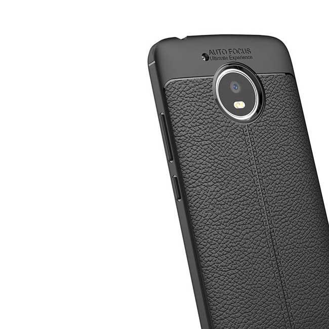 قاب محافظ طرح چرم موتورولا Auto Focus Soft TPU Letter Case   Moto G5 Plus