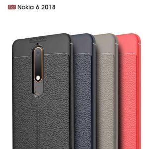 قاب محافظ نوکیا Auto Focus Leather Silicone Case Nokia 6.1 | Nokia 6 2018