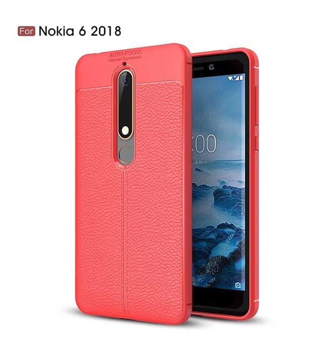 قاب محافظ نوکیا Auto Focus Leather Silicone Case Nokia 6.1   Nokia 6 2018