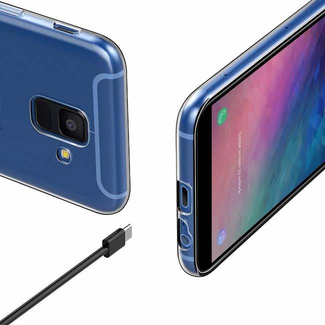 قاب محافظ ژله ای شفاف سامسونگ USAMS Transparent Case   Galaxy A6 2018