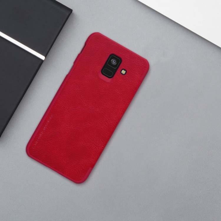 کیف چرمی نیلکین سامسونگ Nillkin Qin Series Wallet Cover | Galaxy A6 2018
