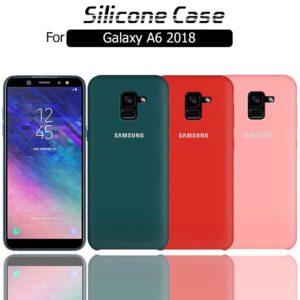 قاب محافظ سیلیکونی سامسونگ Soft Touch Liquid Silicone Cover | Galaxy A6 2018