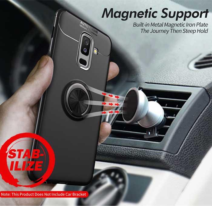 قاب محافظ سامسونگ Becation Magnetic Car Holder Stand Case | Galaxy A6 Plus 2018