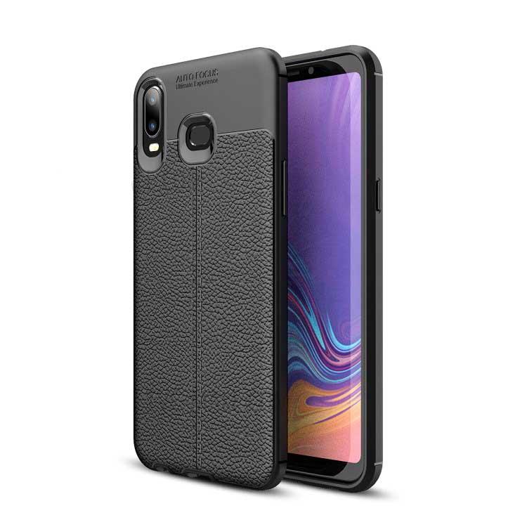 قاب محافظ اتو فوکوس سامسونگ Auto Focus TPU Leather Case | Galaxy A6s