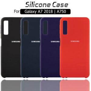 قاب محافظ سیلیکونی سامسونگ Soft Touch Liquid Silicone Cover Galaxy A7 2018 | A750