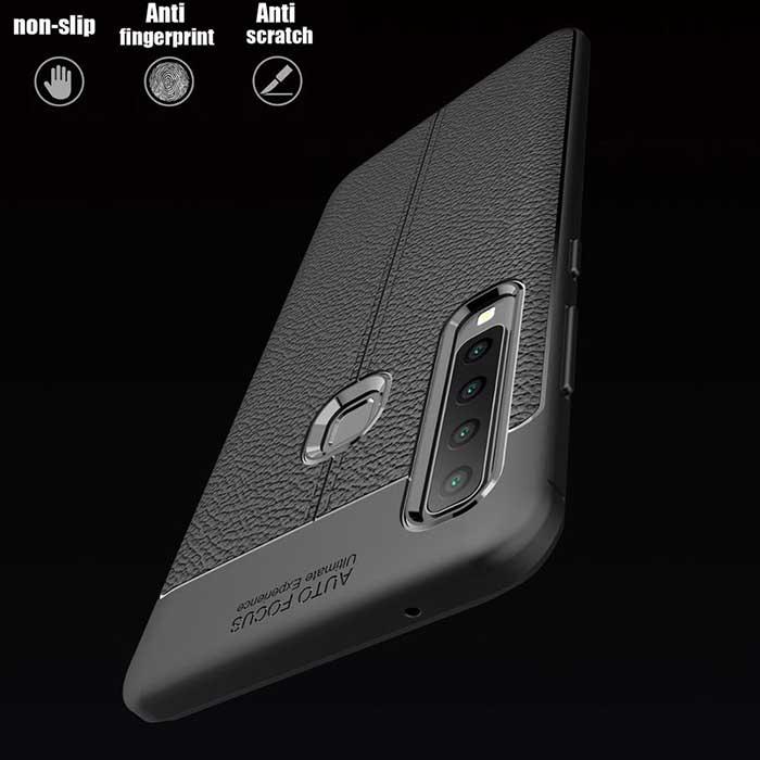 قاب طرح چرم سامسونگ Auto Focus Litchi Case Galaxy A9 2018   A9s   A9 Star Pro