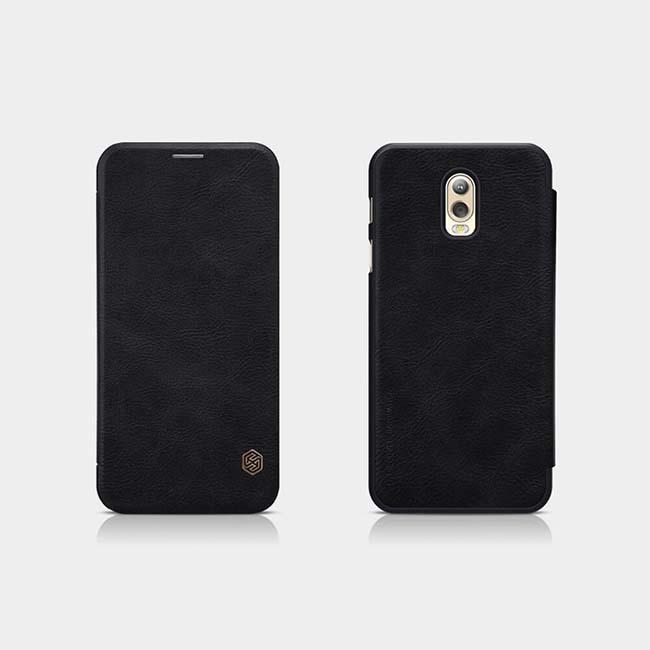کیف چرمی نیلکین سامسونگ Nillkin Qin Series Leather Cover Galaxy C8 | j7 Plus