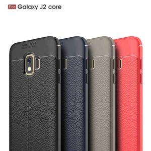قاب طرح چرم سامسونگ Auto Focus PU Leather Silicone Case | Galaxy j2 Core 2018