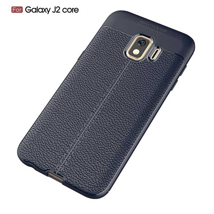 قاب طرح چرم سامسونگ Auto Focus PU Leather Silicone Case | Galaxy j2 Core 2018