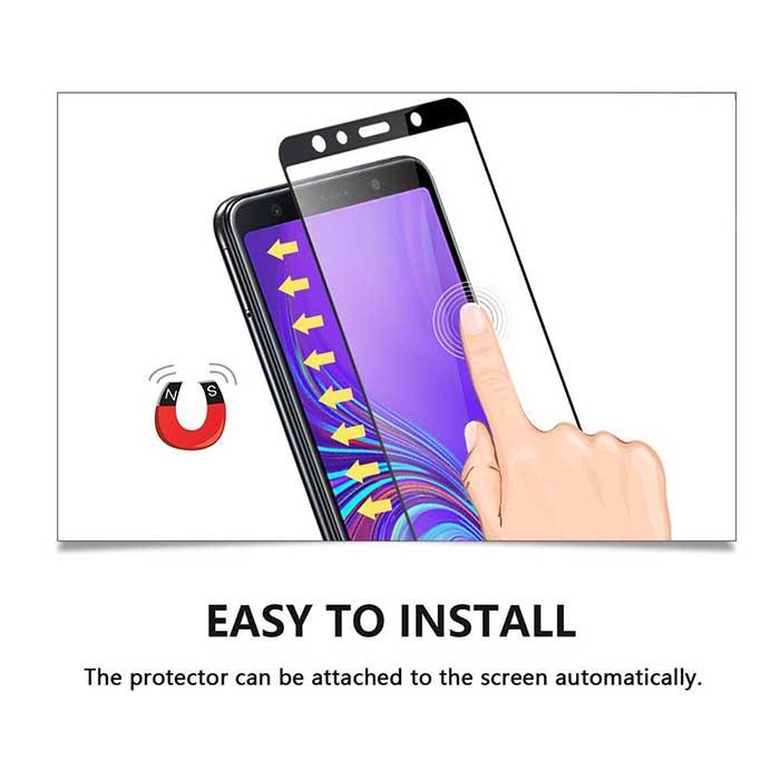 محافظ صفحه تمام چسب سامسونگ Film Full Coverage Glass Galaxy j4 Plus | j4 Prime