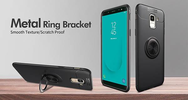 قاب محافظ انگشتی سامسونگ Becation TPU Finger Ring Case | Galaxy A6 2018