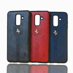 قاب محافظ چرمی گوشی سامسونگ JMC Leather Ferrari Case | Galaxy j8 2018