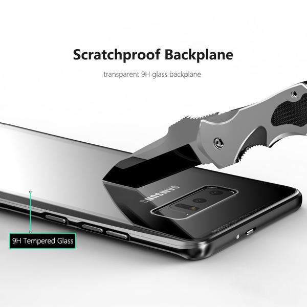 قاب دو تکه مگنتی سامسونگ Magnetic Adsorption Metal Bumper Case   Galaxy Note 8