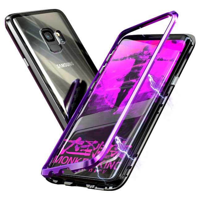 قاب محافظ دو تکه مگنتی سامسونگ Magnetic Adsorption Metal Frame Case | Galaxy S9 |
