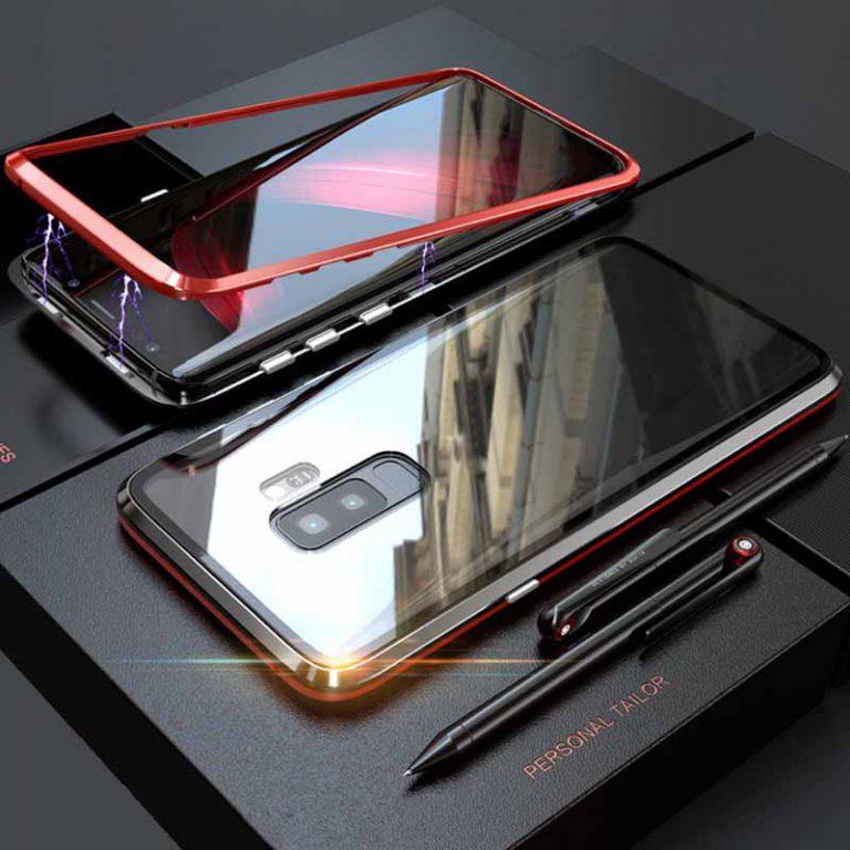 قاب محافظ دو تکه مگنتی سامسونگ Magnetic Adsorption Metal Frame Case | Galaxy S9