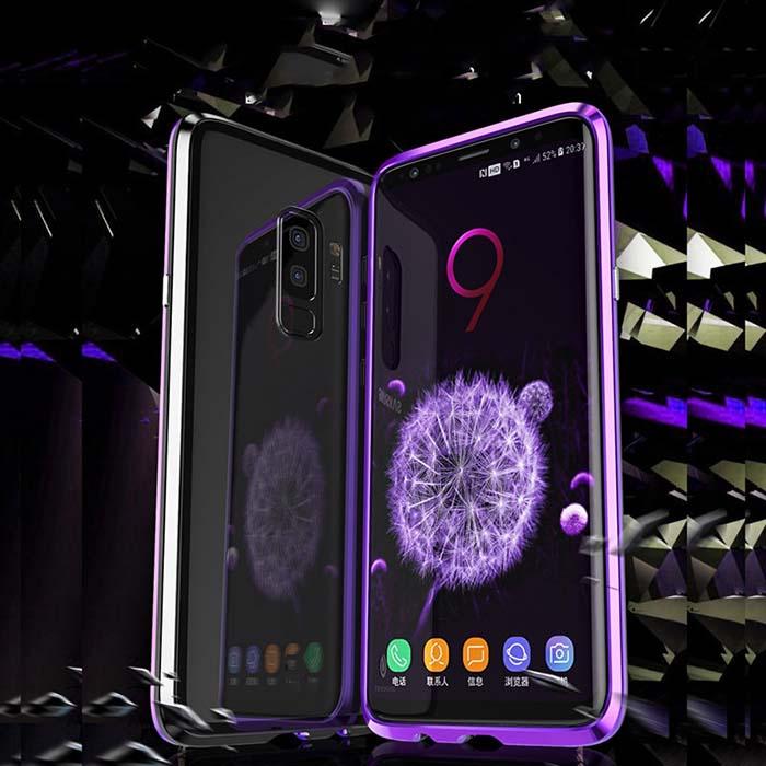 قاب دو تکه مغناطیسی سامسونگ Magnetic Adsorption Metal Frame Case | Galaxy S9 Plus