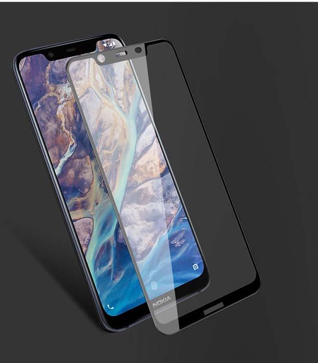 محافظ صفحه تمام چسب نوکیا Film Full Coverage 5D Glass Nokia X7   Nokia 8.1