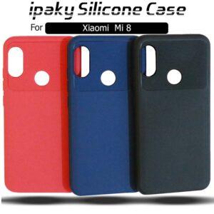 قاب محافظ سیلیکونی شیائومی ipaky Silicone Shockproof Case Mi 8 | Mi8