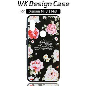 قاب محافظ طرح گل شیائومی WK Design Silicone Flower Case | Xiaomi Mi 8