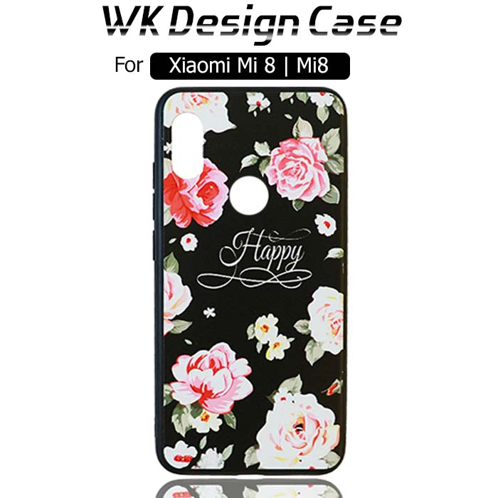 قاب محافظ طرح گل شیائومی WK Design Silicone Flower Case   Xiaomi Mi 8