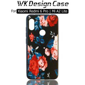 قاب طرح گل شیائومی WK Flower Soft TPU Case Xiaomi Mi A2 Lite | Redmi 6 Pro