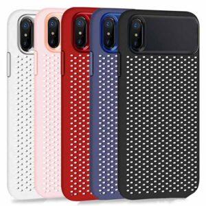 قاب ژله ای توری آیفون Cooling Mesh TPU Hollow Case | iphone XS Max