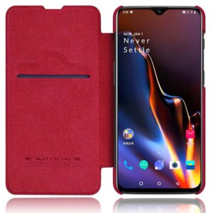 کیف چرمی نیلکین وان پلاس Nillkin Qin Series Leather Flip Cover | OnePlus 6T