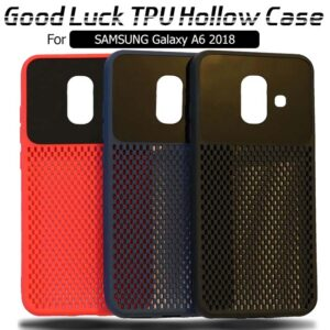 قاب ژله ای توری سامسونگ Breathable Mesh Cooling TPU Hollow Case | Galaxy A6 2018